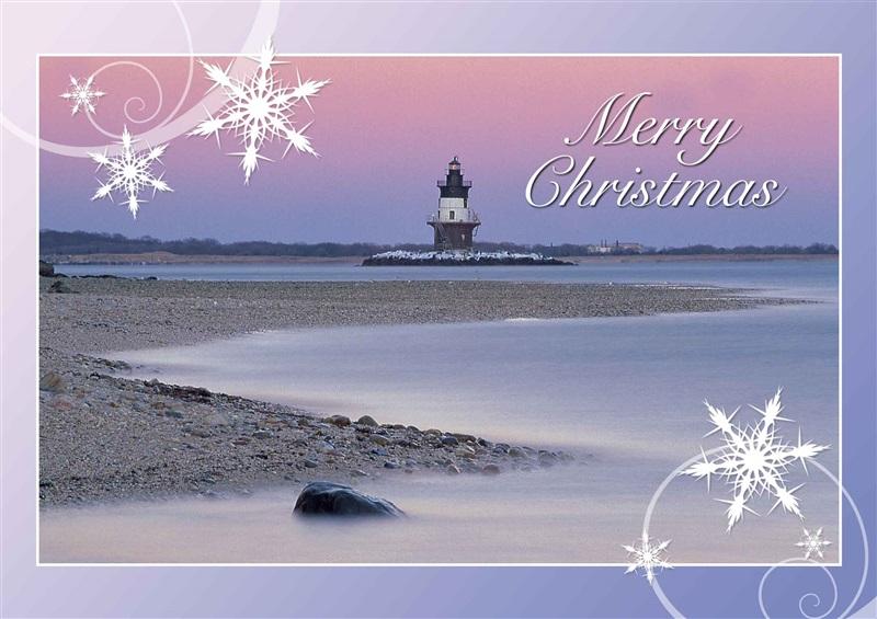lighthouse christmas cards