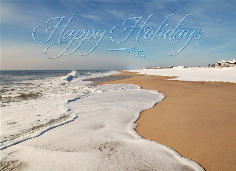 Coopers Beach Southampton Holiday Cards