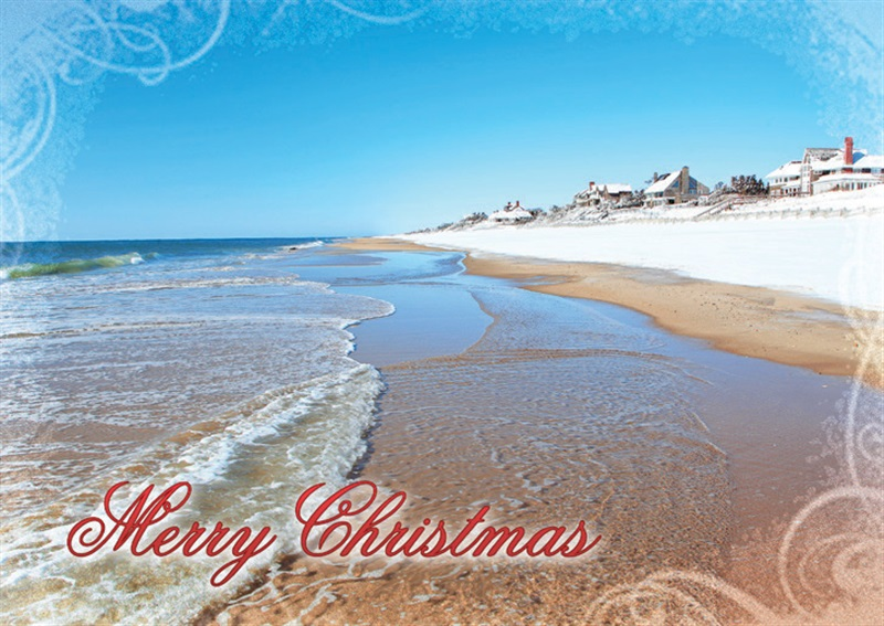 main beach east hampton christmas cards - Beach Christmas Cards