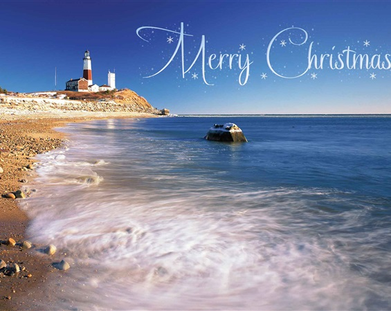 Montauk Point Lighthouse Christmas Card #2