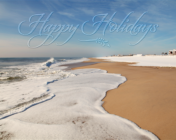 Coopers Beach, Southampton Holiday Cards
