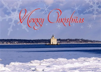 Huntington Harbor Lighthouse Christmas Cards