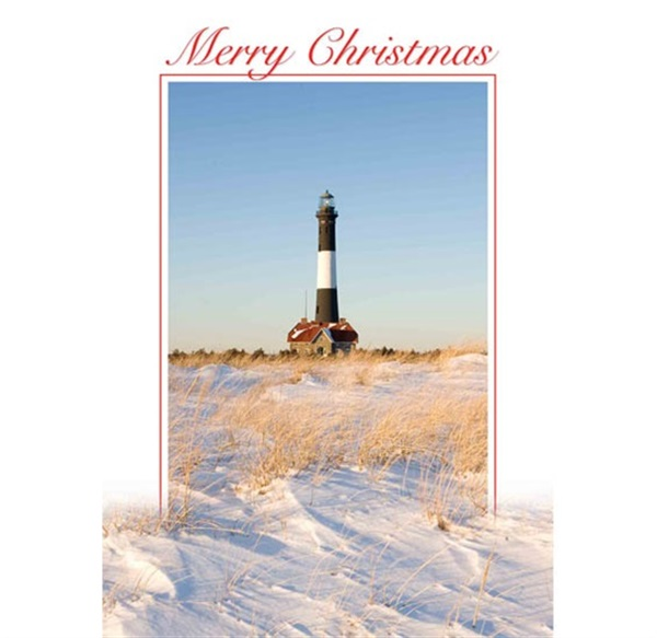 Fire Island Lighthouse Christmas Cards #2